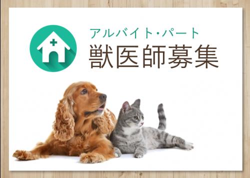 獣医師募集(アルバイト・パート)