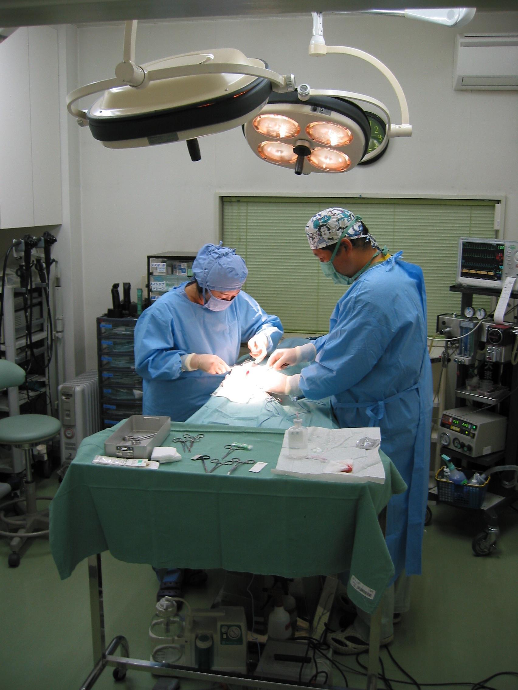 手術風景です。