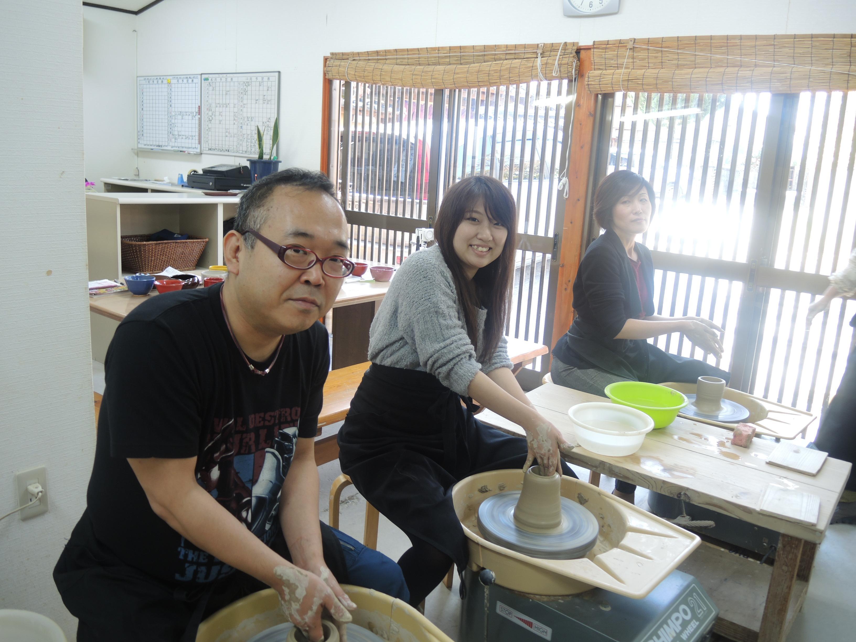 社員旅行で陶芸に挑戦!