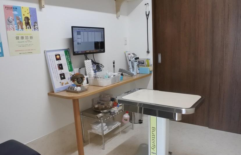 診察室は大型犬、眼科検査、エコー検査等に対応できるよう3室あります。