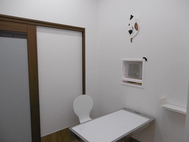 第二診察室です(主に猫とエキゾチックアニマルの診察用です。)