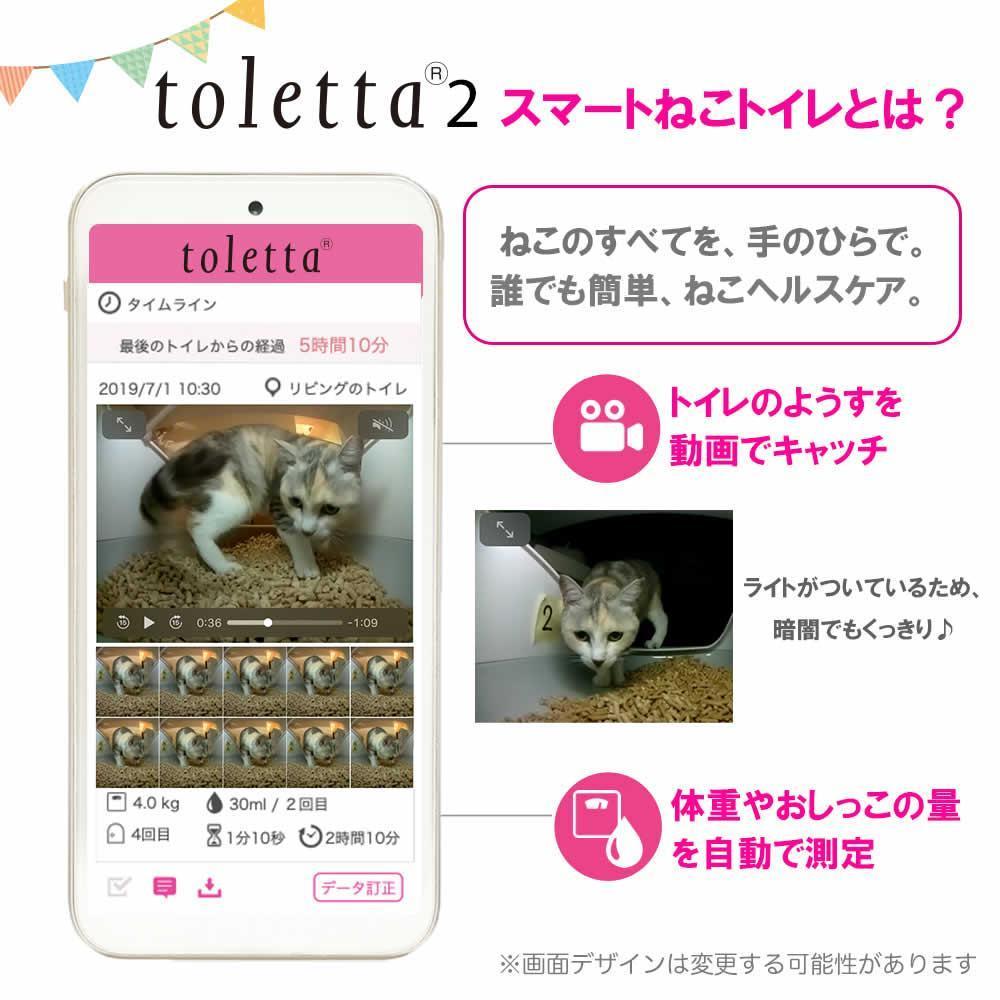 tolettaはアプリでねこちゃんの体調管理ができるIoTねこトイレです
