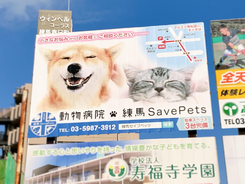 練馬春日町駅前に当院の看板があります。