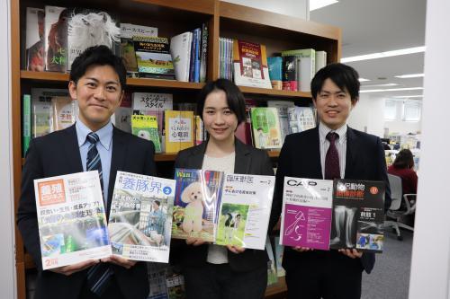 獣医学雑誌、獣医学を含む生物系を中心とする書籍の編集業務