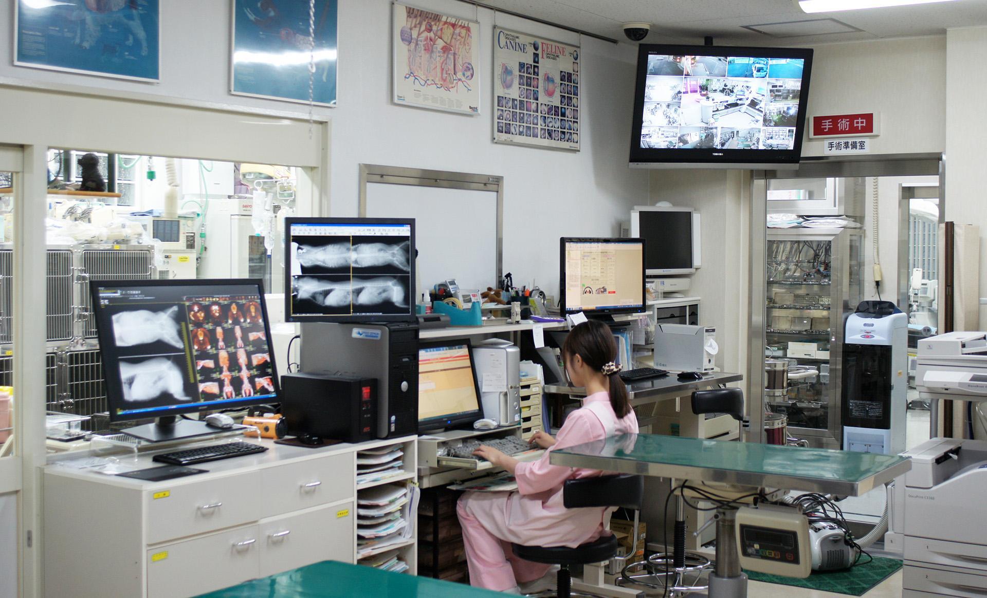 現病院の処置室です
